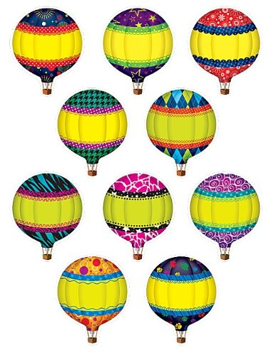Teacher Created Resources Hot Air Balloons Accents (5295)