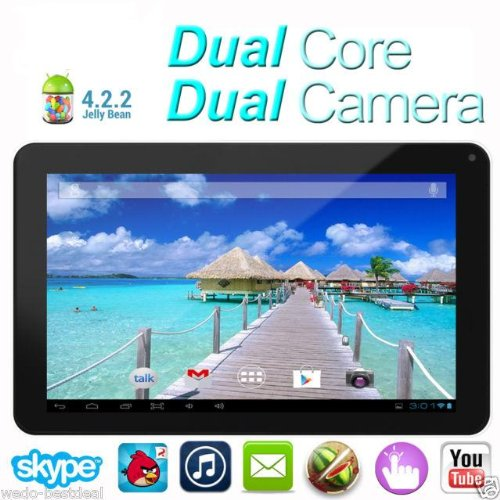 Goldengulf 9″ inch DUAL CORE dual camera Newest MID Google Android 4.2 Tablet PC Capacitive Allwinner A20 8GB/1GB RAM Flash 11.1,Registered in Washington