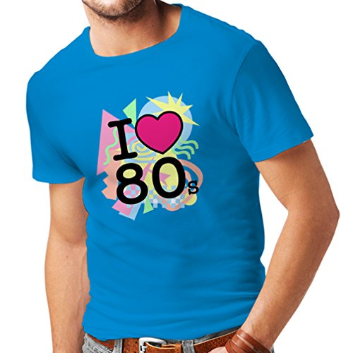 n4331 m nner t shirt ich liebe 80er jahre x large blau. Black Bedroom Furniture Sets. Home Design Ideas