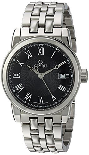 Gevril-Mens-2521-PARK-Analog-Display-Swiss-Quartz-Silver-Watch