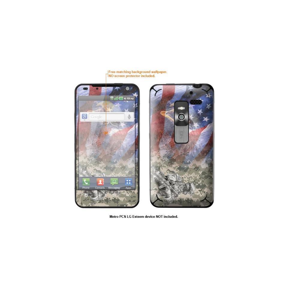 Protective Decal Skin Sticker for Metro PCS LG Esteem 4G case cover Esteem 544