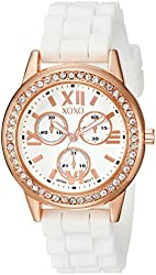 XOXO Women's XO8081 Analog Display Japanese Quartz White Watch