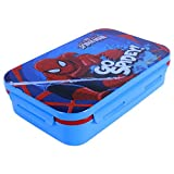 Marvel Spiderman Plastic Lunch Box Set, 800ml, Set Of 4, Multicolor