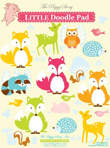 Piggy Story Little Doodle Pad, Fox & Woodland Animals