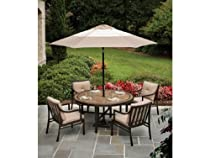 Hot Sale 5pc Colonnade Outdoor Round Porcelain Dining Set by Agio