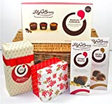 Lily O'Briens Luxury Chocolate wicker Basket Hamper with 5 Chocolate Boxes