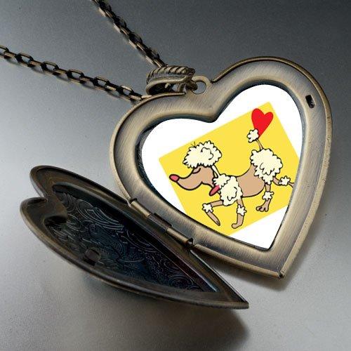 Toy Poodle Dog Large Pendant Necklace