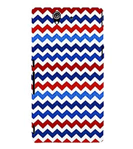 Wave Pattern Wallpaper 3D Hard Polycarbonate Designer Back Case Cover for Sony Xperia Z :: Sony Xperia Z L36h