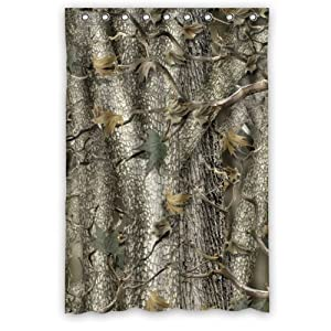 48 X 72 Waterproof Bathroom Camouflage Tree Camo Tree Shower Curtain Home