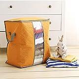 #7: Para Foldable Charcoal Clothes Sweater Blanket Closet Organizer Storage Bag Box, Orange