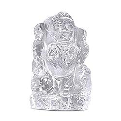 Shiva Rudraksha Ratna Natural Quartz Crystal / Sphatik Maa laxmi 23 gm. approx