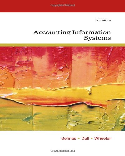 Accounting Information Systems, by Ulric J. Gelinas, Richard B. Dull, Patrick Wheeler