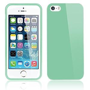 Bestwe Original TPU Jelly snap on Gel Soft Hülle Case Cover Tasche Skin schutzhülle für Apple iPhone 5S 5 in Turquoise türkis