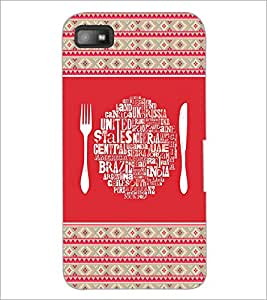 PrintDhaba Typography D-4149 Back Case Cover for BLACKBERRY Z10 (Multi-Coloured)