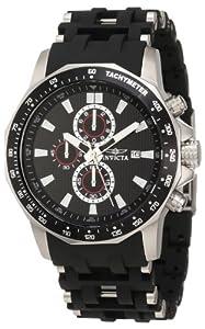 Invicta Herren 1930 Sea Spider Chronograph Black Textured Dial Black Polyurethane Uhr