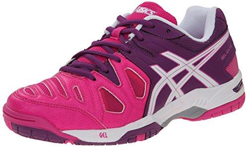 ASICS Women's Gel Game 5 Tennis Shoe, Pink Glow/White/Grape, 5 M US