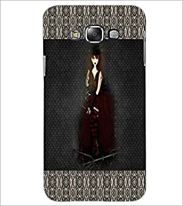 PrintDhaba Hat Girl D-3030 Back Case Cover for SAMSUNG GALAXY A8 (Multi-Coloured)