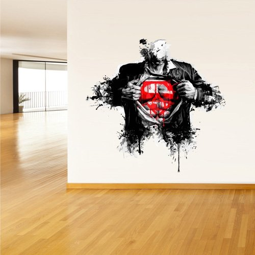 Superman Sign Art Water Paint Decal