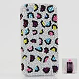 Australian Luxury Diamond Multiple Colors Leopard Design Crystal Bling Case Cover for iphone 4 / 4s 100% Handcrafted by BlingAngels + Branded Pink Carry Pouch