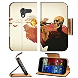 Skulls Paintings Skeletons Digital Art Motorola Moto X Flip Case Stand Magnetic Cover Open Ports Customized Made to Order Support Ready Premium Deluxe Pu Leather 5 7 16 Inch (138mm) X 3 1 16 Inch (78mm) X 9 16 Inch (14mm) Liil Mobility cover Professional MotoX Cases Moto_X Accessories Graphic Background Covers Designed Model Folio Sleeve HD Template Designed Wallpaper Photo Jacket Wifi Protector Cellphone Wireless Cell phone