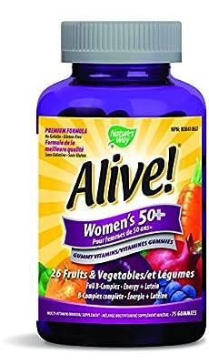 Nature's Way Alive Women's 50 Plus Gummies, 75 Count
