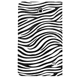 VanGoddy Mary Portfolio WILD BLACK WHITE ZEBRA Multi Purpose Book Style Slim Flip Cover Case for Samsung Galaxy Tab 4 8.0