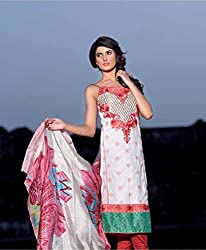 Pakistani Lawn suit with Dupatta