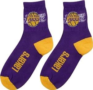 Amazon.com : Los Angeles Lakers Team Color Quarter Socks : Sports Fan