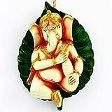 Ghasitaram Gifts Ganesha On Peepal Leaf(Multi Colour, Leaf Shape)