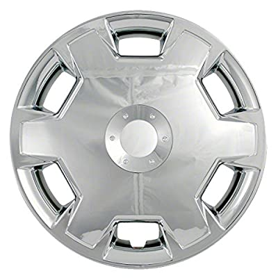 2007-2011 Nissan Versa Chrome 15-inch Clip On Hubcaps (Set of 4)