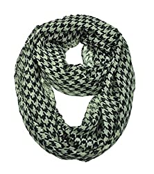 WishCart Chequer Printing Infinity Circle Loop Scarf For Womens and Girls-Black