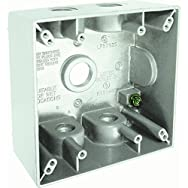 Hubbell 5937-1 Do it Weatherproof Electrical Box-2 GANG WHT OUTDOOR BOX