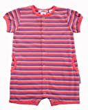 Bright Bots Baby Girl Pink and Mauve Striped Cotton Jersey Romper size 12-18 Months