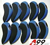 H09 golf club headcover neoprene iron head cover 10pcs (black/blue)
