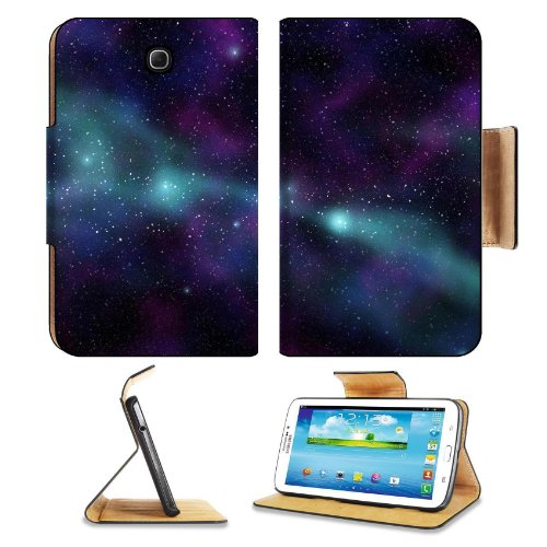 Galaxy Stars Universe Black Space Samsung Galaxy Tab 3 7.0 Flip Case Stand Magnetic Cover Open Ports Customized Made To Order Support Ready Premium Deluxe Pu Leather 7 12/16 Inch (190Mm) X 5 5/8 Inch (117Mm) X 11/16 Inch (17Mm) Msd Galaxy Tab3 Cases Tab_7