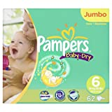 Pampers Baby-Dry Size 6 Extra Large Nappies Jumbo Pack (62 Nappies)