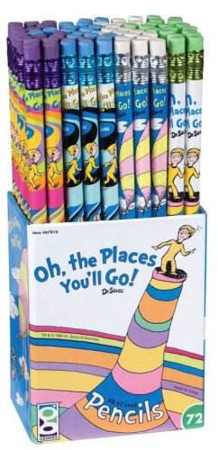 Oh the Places You'll Go! Pencil Assortment - Set of 72