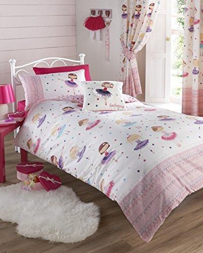 Ballerina rosa singolo Copripiumino e federa Set Letto bambina bambini biancheria da letto