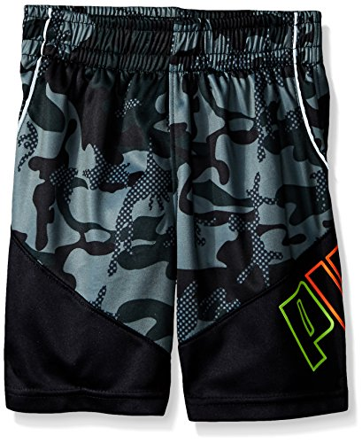 PUMA Big Boys Camo Short, Green, Medium