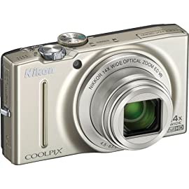 Nikon COOLPIX S8200 Digital Camera (Silver)