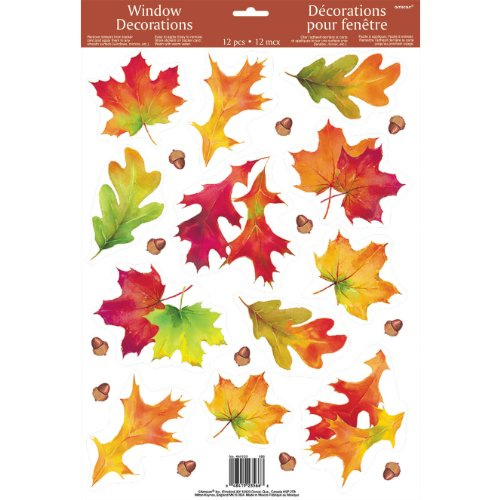 Autumn Breeze Window Clings (1 sheet)