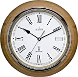 Acctim 74431 Durham Wall Clock, Natural Oak