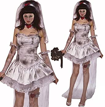 Chicnova Women Mummy Bride Vampire Zombie Dress Halloween Witch Costume