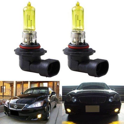 Ijdmtoy 3000K Super Yellow 9145 H10 Halogen Fog Light Bulbs