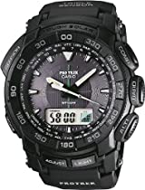 Casio Pro Trek Digital Watch for Him Altimeter, Barometer, Thermometer, Compass