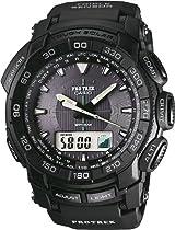 Casio Pro Trek Digital Watch for Him Altimeter, Barometer, Thermometer, Compass