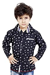 Hushbhi Boy's Shirt (HB0059_Yellow_1-2 Y)