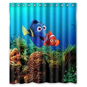 marlin dory finding nemo custom shower curtain amazing decorate your bathroom 60 x72. Black Bedroom Furniture Sets. Home Design Ideas