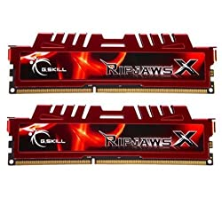 G.SKILL 8GB (2 x 4GB) Ripjaws X Series DDR3 1600MHz 240-Pin PC3-12800 Desktop Memory F3-12800CL9D-8GBXL