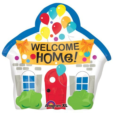 "Welcome Home House Shaped 18"" Mylar Foil Balloon"